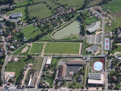Aerial view of sports centre
