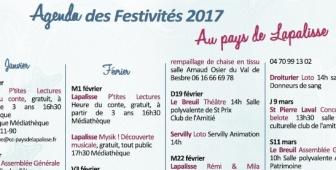 Agenda des festivités 2017